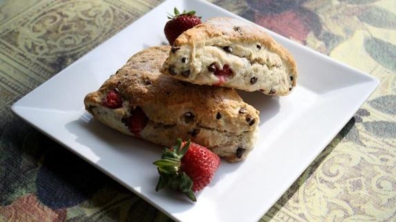 Strawberry and Chocolate Scones