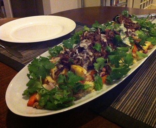 Roasted Vegetable Barley Salad With Lemon Vinaigrette Recipes ...