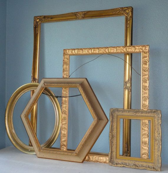 Vintage Gold Picture Frame Set