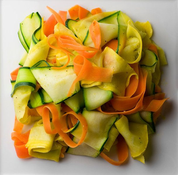 Summer Vegetable Ribbons! Easy, breezy, beautiful summer side dish.