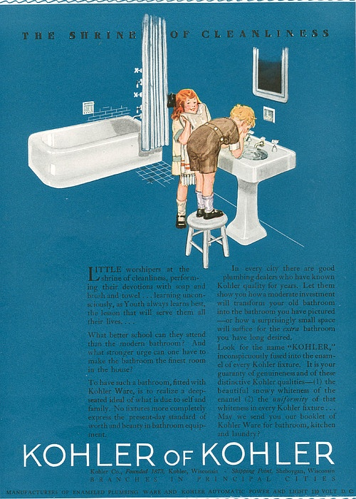 Kohler 1923 1920s Usa Cc Bathrooms Print by The Advertising Archives