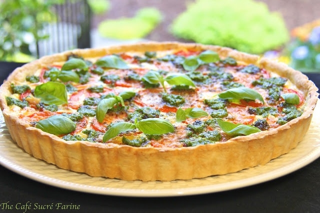 ... Farine: Herbed Ricotta Tomato Tart... with basil and parmesan... yum
