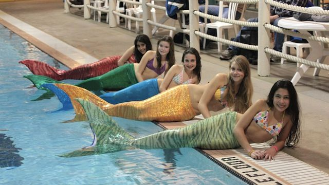 Live out your mermaid dreams with these swimmable tails. My dream has come true.
