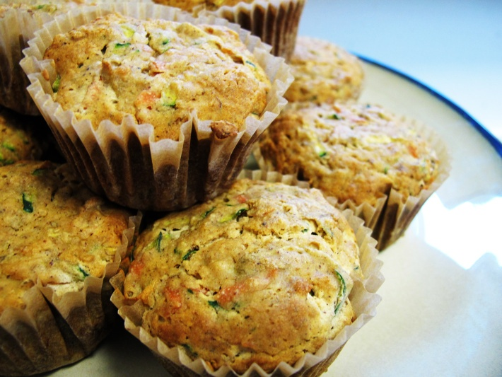 spiced Zucchini Carrot Muffins (gluten free and vegan)