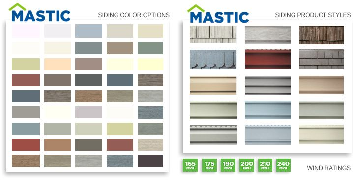 Mastic siding colors 718 378 home decor for Siding styles and colors