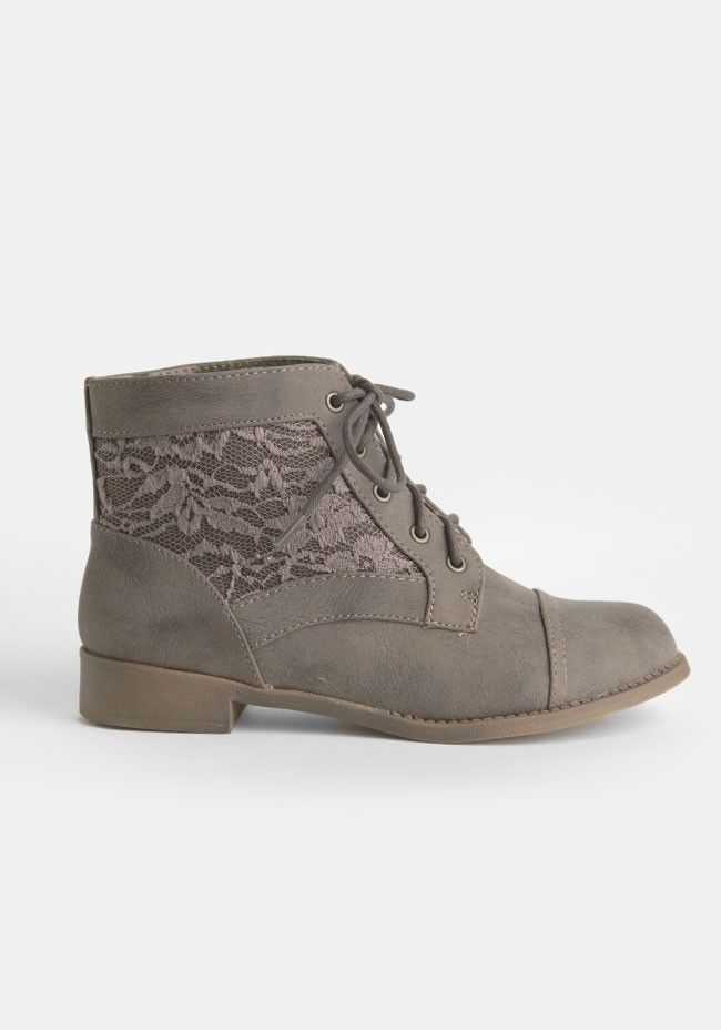 Dreams Never End Lace Panel Boots | Garments and such. | Pinterest