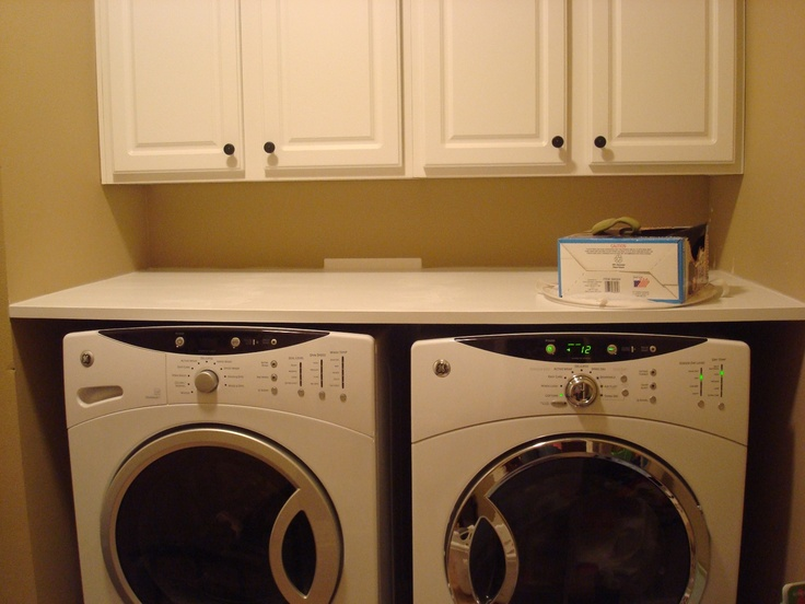 Countertop over washer and dryer house ideas pinterest for Laundry room countertop over washer and dryer