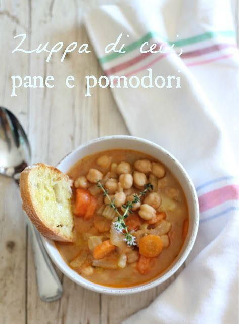 Chickpea, bread and tomato soup | Soups On! | Pinterest