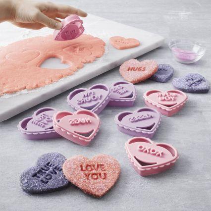 conversation heart cookie cutters