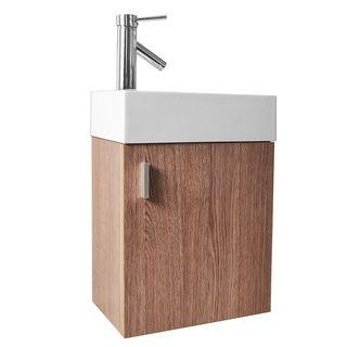 Virtu USA Carino 16-inch Single Sink Bathroom Vanity Set Overstoc...