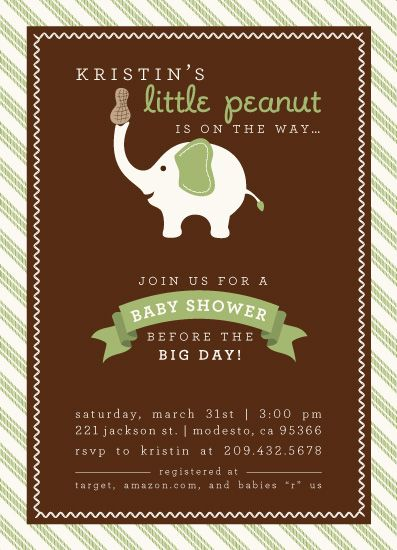 baby shower invitations little peanut baby shower ideas pintere