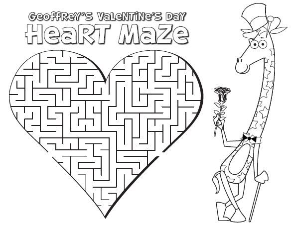valentine's coloring pages | Toys R Us: FREE Valentine's Activity ...