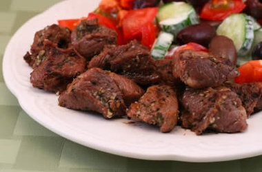Grilled Lamb Cubes Cooked Greek Style — Punchfork | Beef, Bison ...