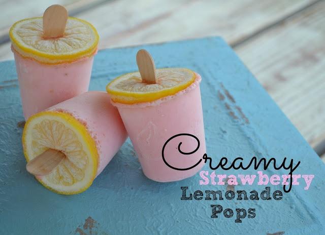 Creamy Strawberry Lemonade Pops | Recipes | Pinterest