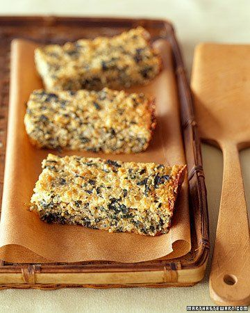 Quinoa-Spinach Bake. Use cornmeal instead of breadcrumbs to line the ...