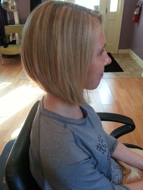 Stacked Angled Bob Hairstyle