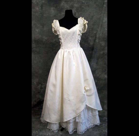 Vintage Gunne Sax Wedding Dress By Jessica McClintock 80s M