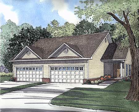 Duplex With Garage Duplex House Plans Pinterest