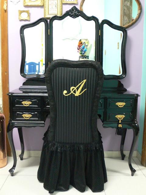 Ateliando - Customização de móveis antigos: Galeria Penteadeiras Antigas    Penteadeira Alecssandrah by Ateliando