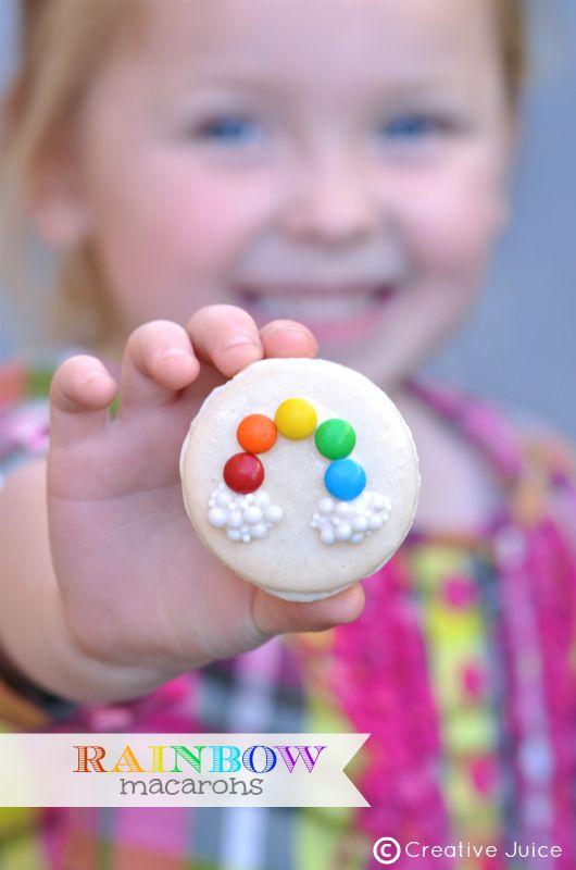 {MACARONS} rainbow macarons - Creative Juice | @Mindy CREATIVE JUICE | getcreativejuice.com