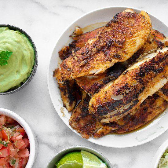 blackened tilapia fish tacos! | MMMM Sounds Good! | Pinterest
