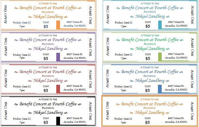 event ticket template microsoft   datariouruguay
