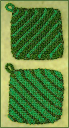 Knitting Pattern For A Pot Holder : Knitting Pattern Potholders CRAFTS: Knitting Pinterest