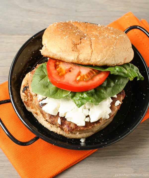 Turkey Burgers with Sun-dried Tomatoes and Goat Cheese | Recipe
