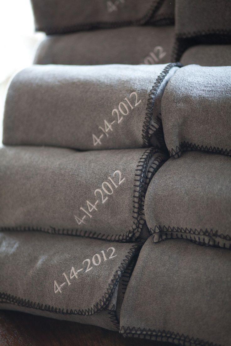 Fleece blankets wedding