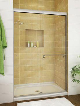 Alcove for shower shelving bathrooms pinterest for Bathroom alcove shelves