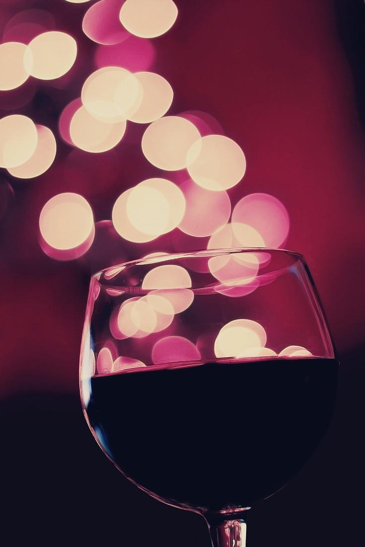 Christmas Lights Wine Glasses Christmas wine glass with bokeh. pinned ...