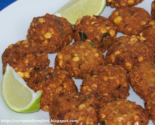 Spicy Lentil Fritters Recipe — Dishmaps