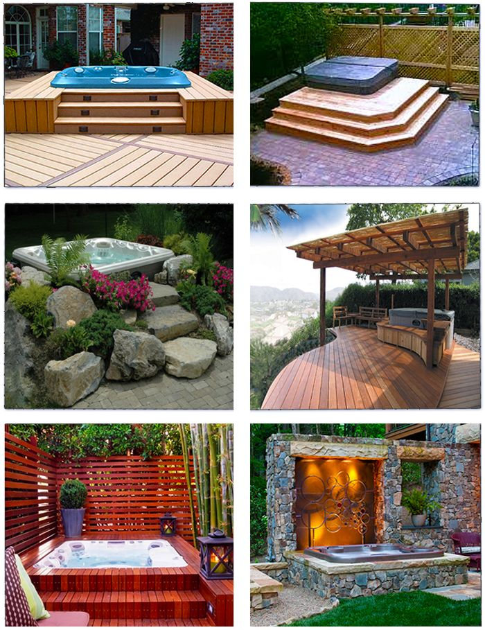 Spa Patio Designs Outdoor Ideas Pinterest