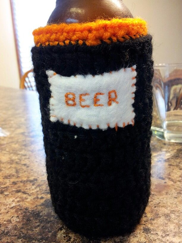 Crochet Koozie : Crocheted beer koozie Crochet Pinterest