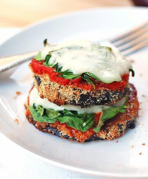 Cheesy Baked Eggplant Pizza | Food & Drink | Pinterest