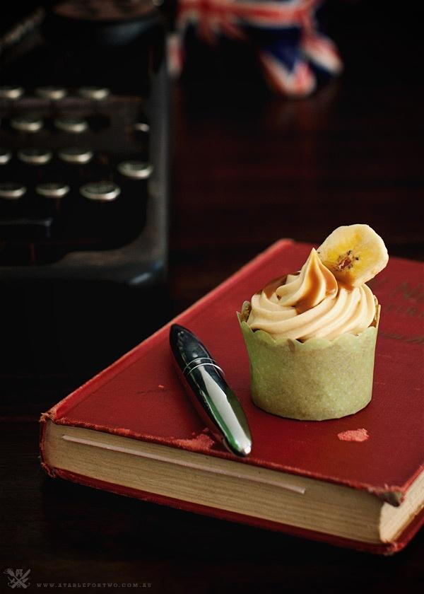 Banana Salted Caramel Cupcake