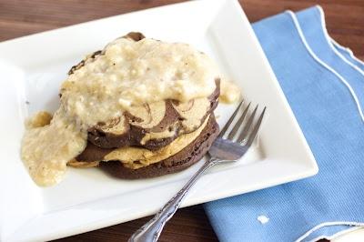 Peanut Butter chocolate Swirl Pancakes | I