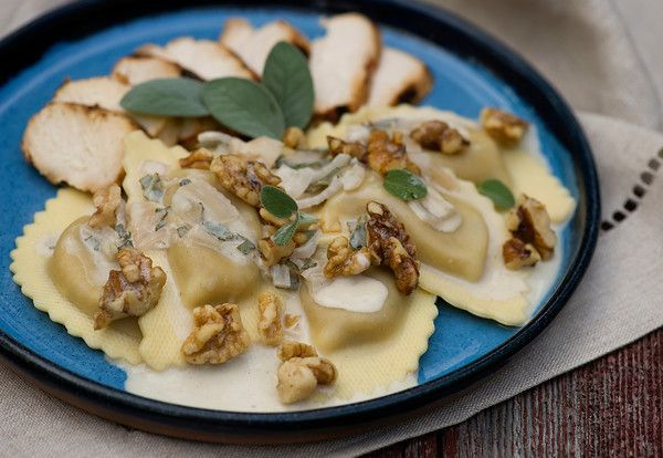 ... agnolotti with sundried tomatoes peppers almonds a hint of saffron