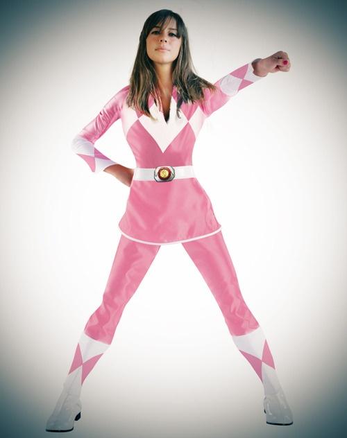 Pink power ranger costume adultos barato
