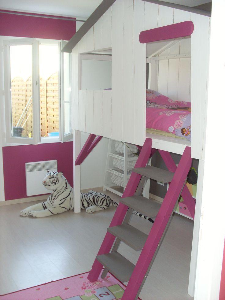 Cabane chambre fille - Rideaux pour lit cabane ...