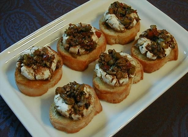 Marinated Goat Cheese Rounds This is a simple appetizer that is meant ...