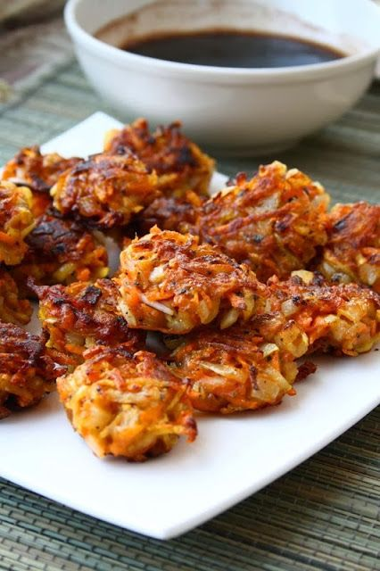 ... memories: Crispy Vegetable Fritters with Spicy Balsamic Sauce