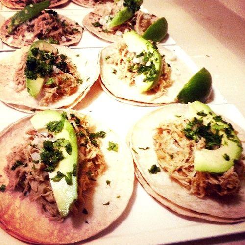 Beer-Braised Shredded Chicken Tacos | Yums | Pinterest