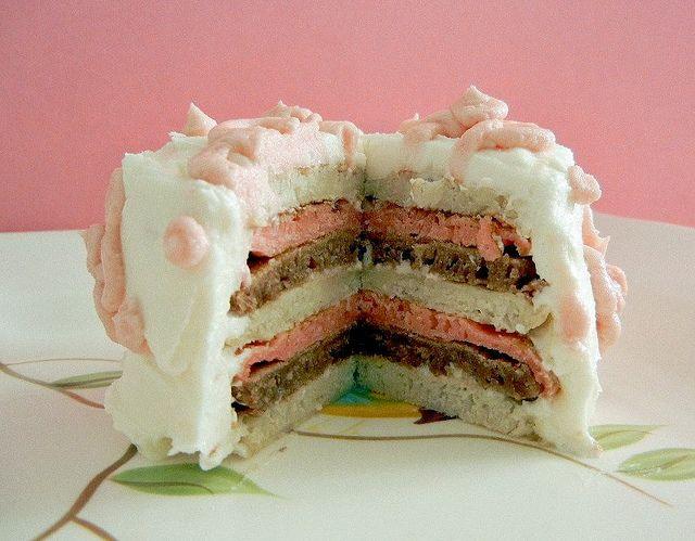 mini neapolitan pancake cakes | Pancakes! | Pinterest