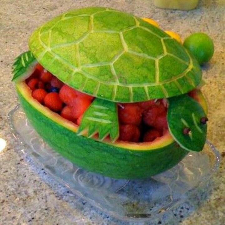 watermelon turtle design amazing foods pinterest