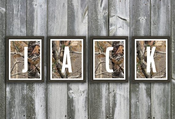 Camouflage Baby Name Wall Art Personalized Nursery Art Hunting