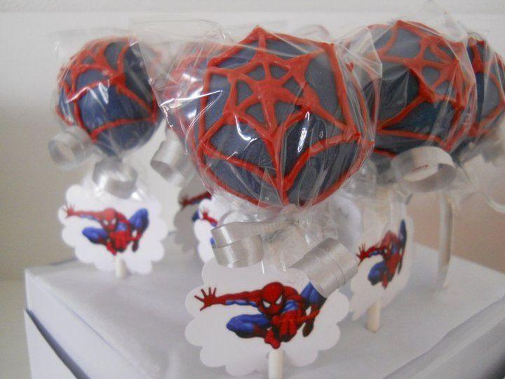 spiderman cake pop