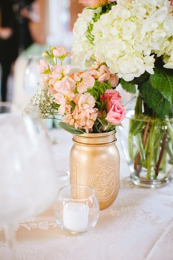 Gold mason jar wedding party ideas pinterest for Altruy decoration sa