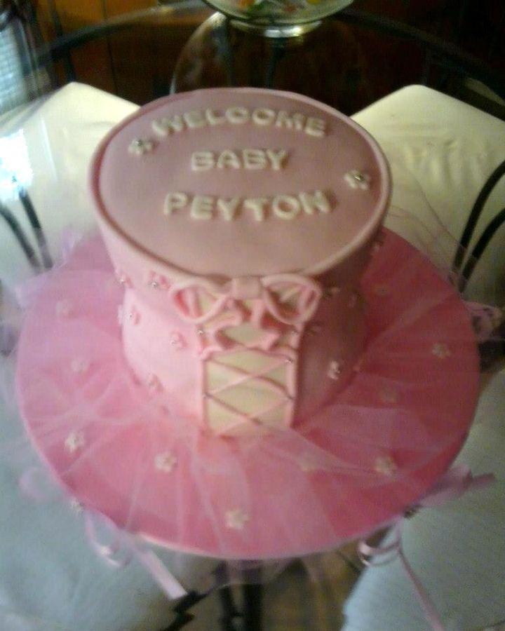 tutu baby shower cake shameless self promotion cakes stuff pi
