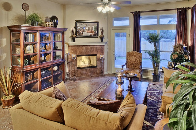 Living room corner fireplace pinterest - Living room layout with corner fireplace ...